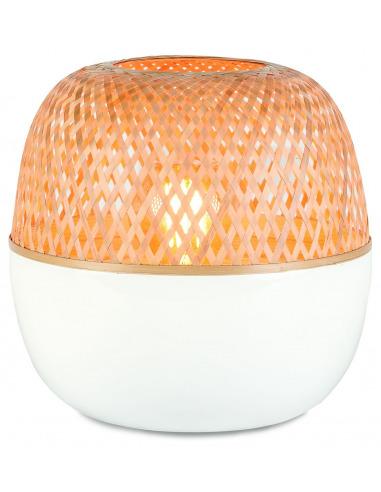 Lampe à poser Mekong Ø30cm en bamboo au design naturel par Good & Mojo