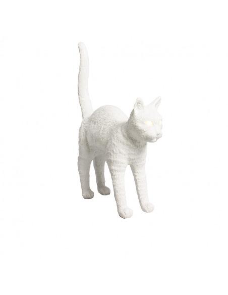 Lampe à poser Felix noir ou blanc en résine en forme de chat par Studio Job X Seletti