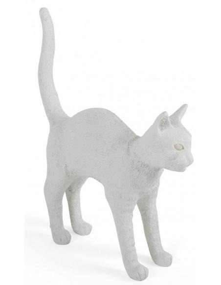 Lampe à poser Felix blanc en résine en forme de chat par Studio Job X Seletti