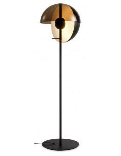 Lampadaire Theia LED 7,6W avec un abat-jour en demi-sphère par Mathias Hahn - Marset