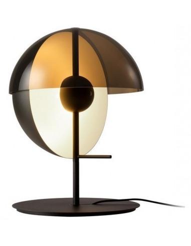 Lampe à poser Theia LED 7,6W avec un abat-jour en demi-sphère par Mathias Hahn - Marset