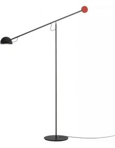 Lampadaire Copérnica LED avec bras articulé en acier par Ramírez i Carrillo - Marset