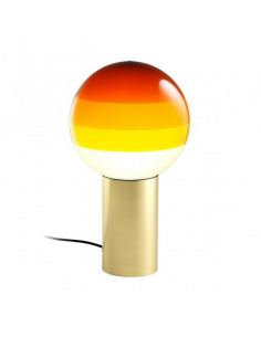 Lampe à poser Dipping Light LED en laiton par Jordi Canudas - Marset
