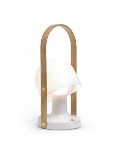Lampe baladeuse FollowMe LED Rechargeable en bois de chêne par Inma Bermúdez - Marset
