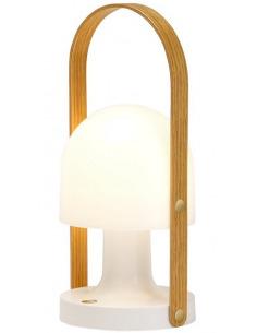 Lampe baladeuse FollowMe Plus LED Rechargeable en bois de chêne par Inma Bermúdez - Marset