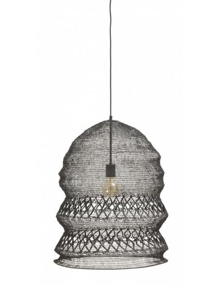 Suspension Filo Ø50 cm en fil métallique noir au design vintage par Nordal