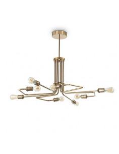 Suspension design Victoire en métal avec finition en laiton vieilli pour un design vintage