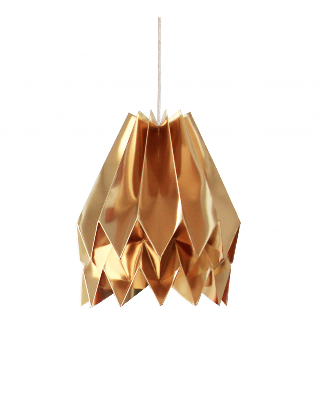 Suspension design origami en papier washi otoko for Suspension luminaire papier