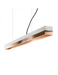 Suspension Design C1 Rectangular 122 cm Cuivre en béton par Gant Light