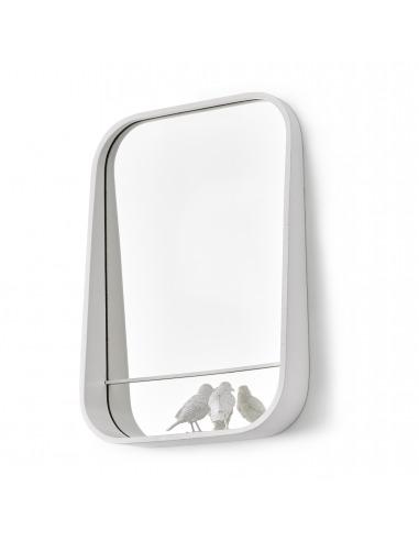 Miroir design et poétique avec petits moineaux Sparrow par le studio Haoshi