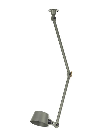 Plafonnier Bolt latéral avec 2 bras articulés au design industriel par Anton de Groof X Tonone