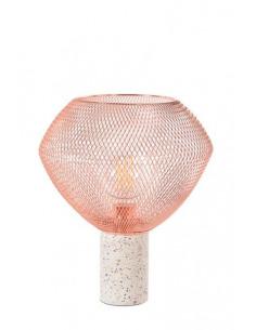 Lampe à poser Venezia small avec base en céramique et abat-jour en métal cuivré par Market Set