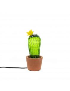 Lampe à poser Cactus sunrise Petite en verre avec pied en béton par Seletti x MARCANTONIO