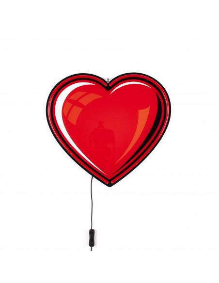 Applique Néon Heart en forme de coeur pour un design tendance par Studio Job X Seletti