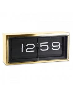 Horloge Flip flap design Brick en laiton par Erwin Termaat au style vintage