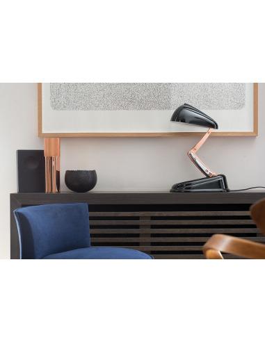 Poser Concept Vintage New Réédition À Moderne Rétractable Jumo Lampe Noir 4jALcR35q