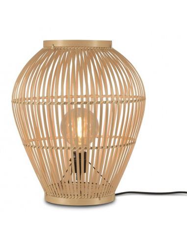 Lampe Tuvalu Small H 50 cm en bamboo au design naturel par Good & Mojo