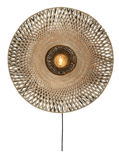 Applique Kalimantan Ø60cm en Bambou naturel au design naturel par Good & Mojo