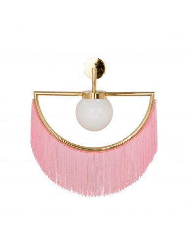 Applique Wink avec franges et structure dorée en demi-cercle au design vintage par Masquespacio X Houtique