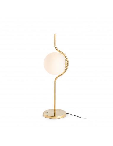 Lampe à poser Le Vita en aluminium avec finition en laiton pour un design chic par Nahtrang