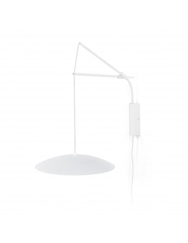 Applique murale extensible au design minimaliste SLIM LED 2 en métal et verre par Alex & Manel Lluscà