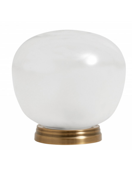 Lampe à poser Glass en verre clair et dépoli au design vintage par Nordal