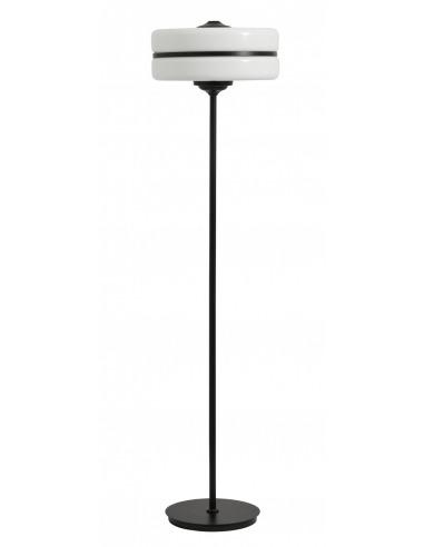 Lampadaire Black iron en métal noir au design vintage par Nordal