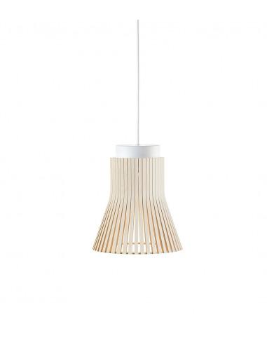 Suspension Petite 4600 au design scandinave en bois naturel par Seppo Koho X Secto Design
