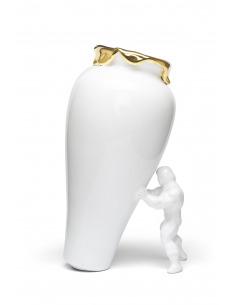 Vase / Pot de fleurs original My Superhero Gold au design incroyable