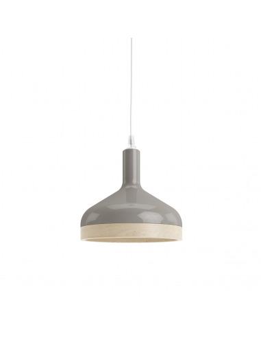 Suspension Plera en céramique et bois par Enrico Zanolla