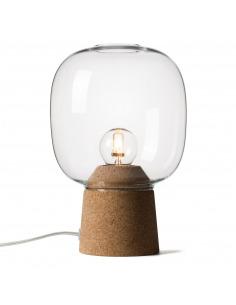 Lampe à poser Picia en verre et liège au design contemporain par Enrico Zanolla