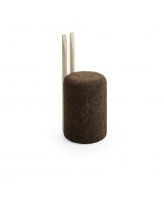 Chaise design Omega 2 en liège noir naturel et bois