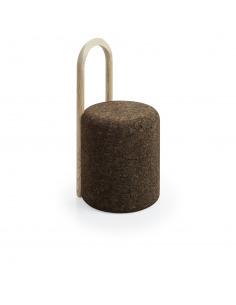 Chaise design Omega 3 en liège noir naturel et bois