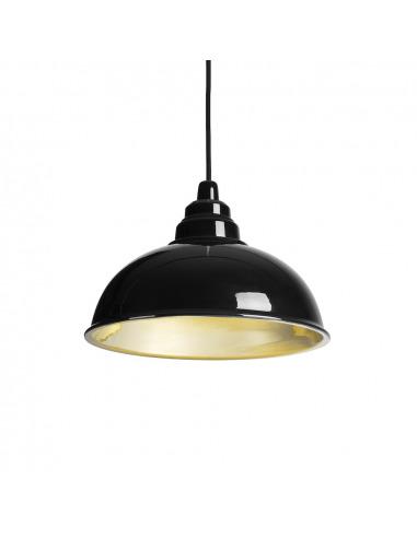 Suspension Botega noir en céramique au design contemporain par Enrico Zanolla