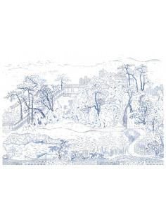 Papier peint design intissé Coromandel Indigo prêt-à-poser by Frédéric Bonnin