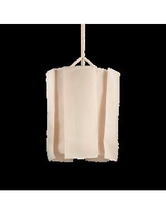 Suspension design Tramara au style bohème en tissu naturel pour