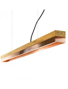 Suspension Design C1 Rectangular 122 cm cuivre et bois par Gant Light