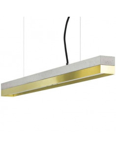 Suspension Design C2 Laiton et béton 92 cm par Gant Light