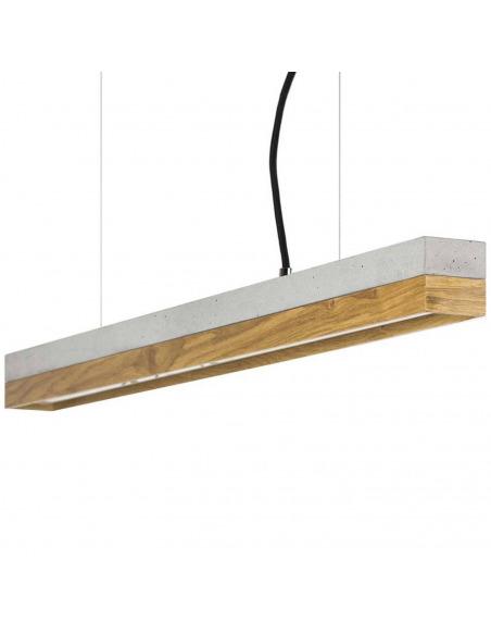 Suspension Design C2 Bois-chêne et béton 92 cm par Gant Light