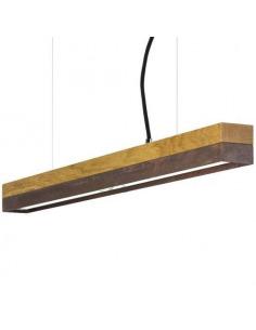 Suspension Design C2o en chêne massif et acier rouillé 92 cm par Gant light