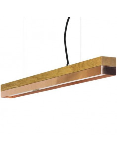 Suspension Design C2 cuivre et bois 92 cm par Gant Light