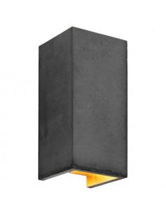 Applique Design B8 Cubic réctangulaire Noir en béton par Gant Light