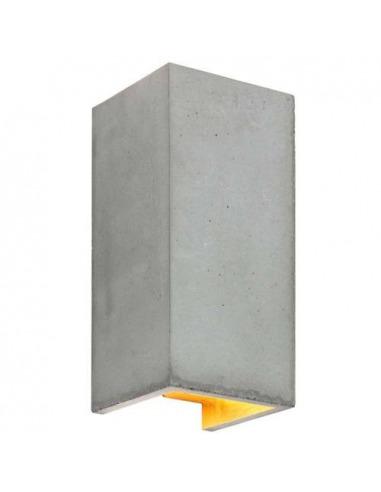 Applique Design B8 Cubic réctangulaire Gris en béton par Gant Light