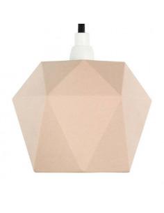 Suspension en porcelaine K1 saumon Triangular par Gant lights