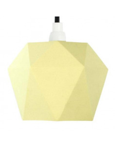 Suspension en porcelaine K1 citron Triangular par Gant lights