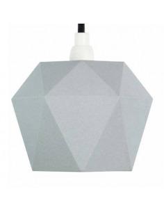 Suspension en porcelaine K1 grise Triangular par Gant lights