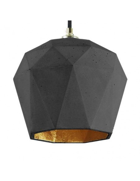 Suspension Design T3 Triangle Noir en béton par Gant Light