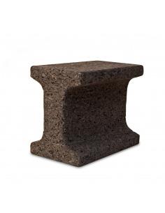 Tabouret design under constructionen liège noir naturel
