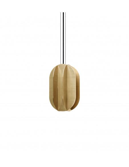Suspension EL medium CS1 en laiton au design contemporain par Kateryna Sokolova x Noom