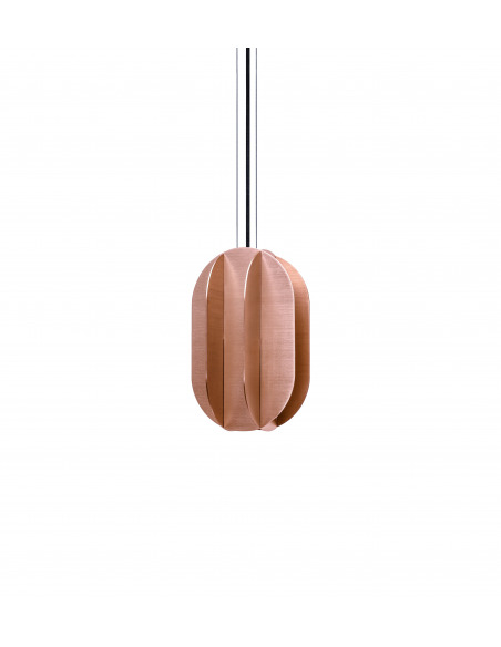 Suspension EL medium CS2 en laiton rosé au design contemporain par Kateryna Sokolova x Noom